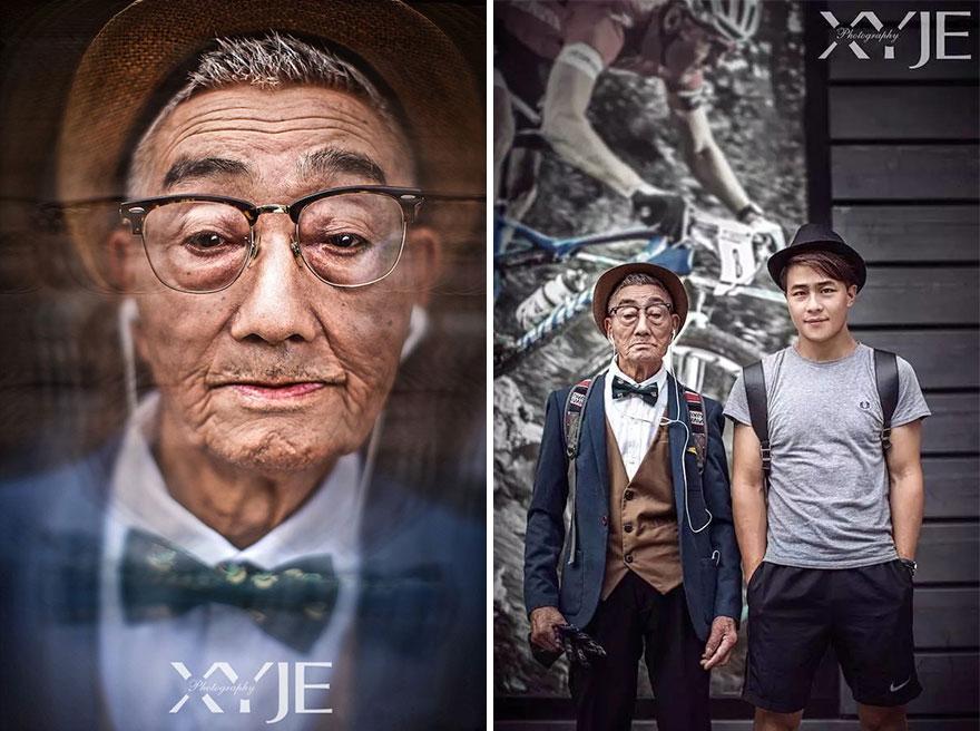 grandson-transforms-grandfather-fashion-trip-xiaoyejiexi-photography-19