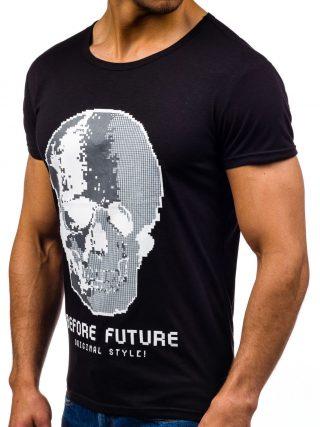 T-shirt z motywem czaszki: Denley.pl