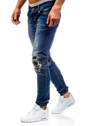 Męskie joggery jeansowe - Denley.pl