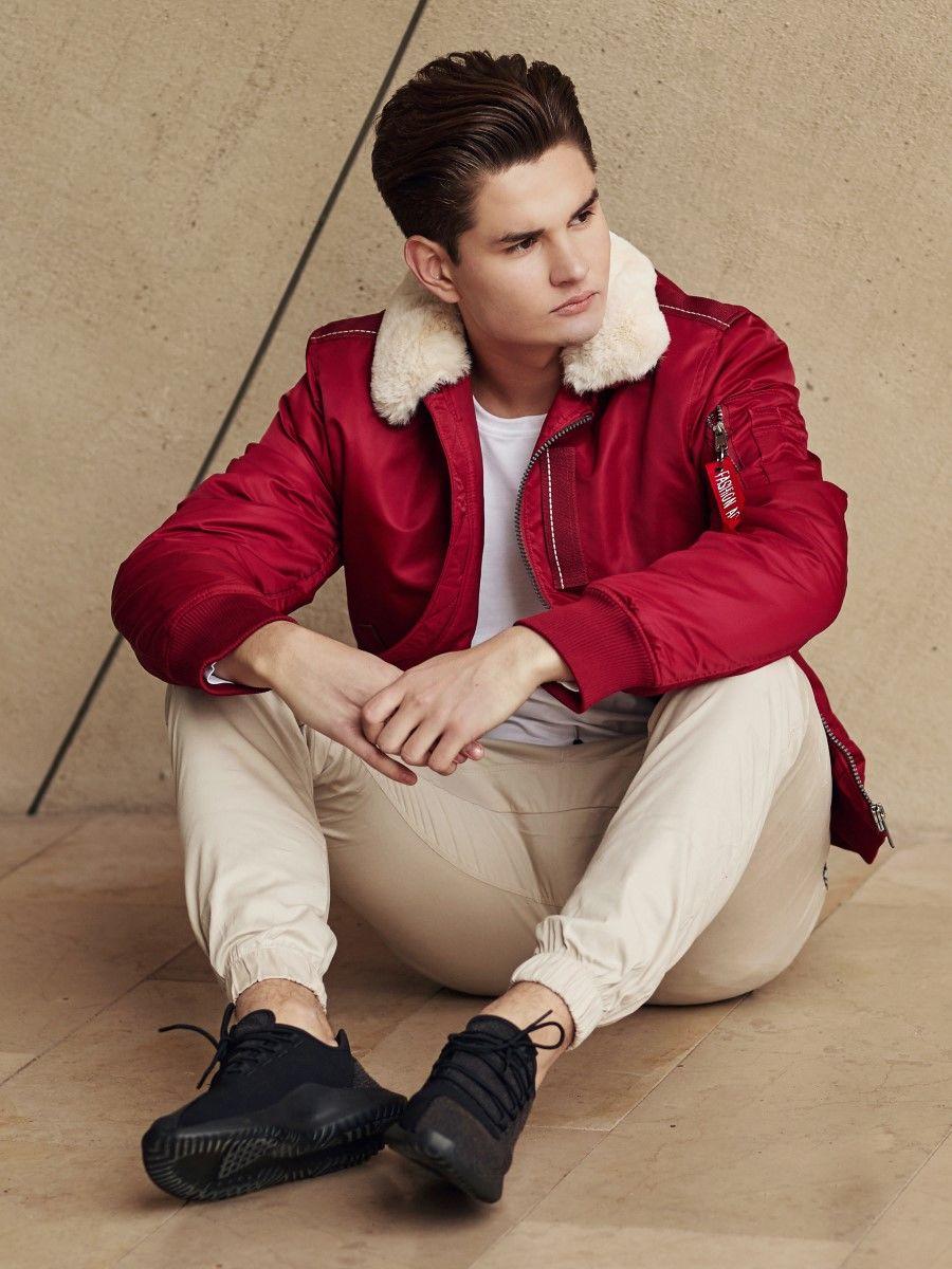 czerwone kurtki męskie