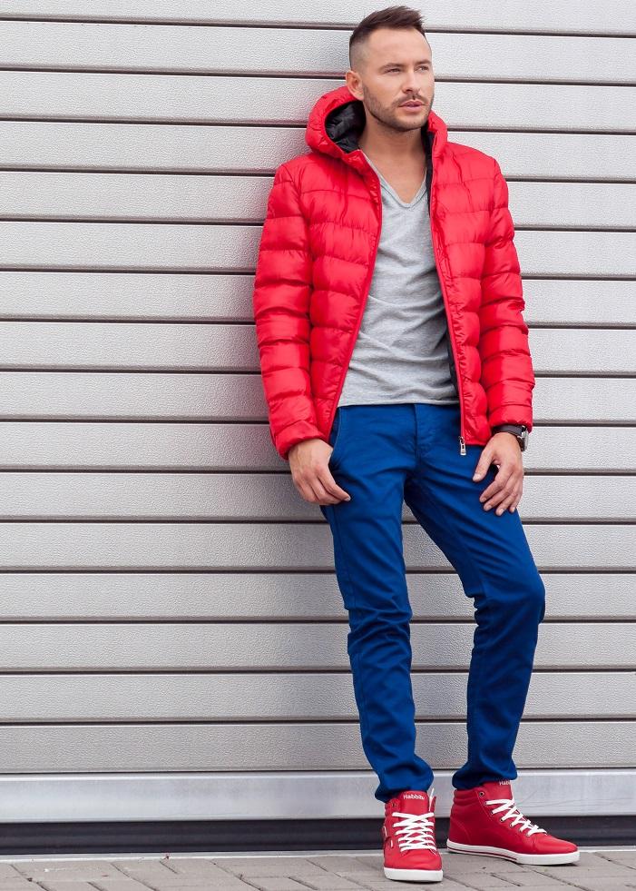 czerwone kurtki - kurtka pikowana