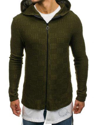 męskie swetry z kapturem