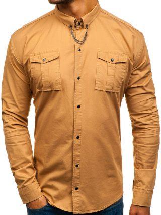 ubrania camelowe - koszula