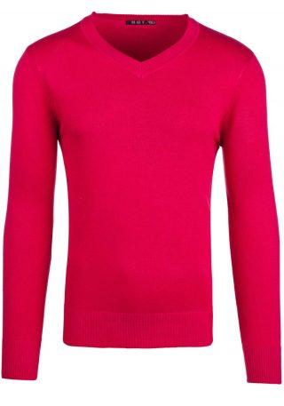 męski sweter czerwony