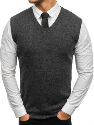 sweter bez rękawów denley