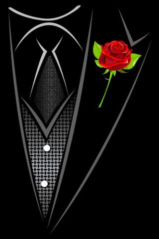 róża w butonierce