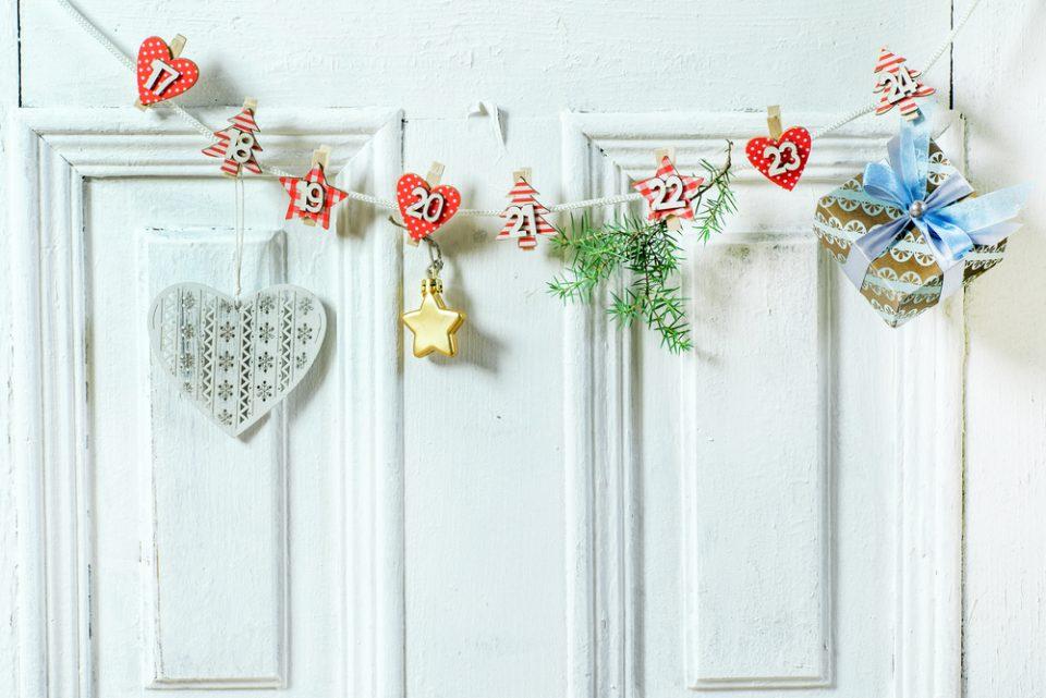 dekoracyjny kalendarz adwentowy