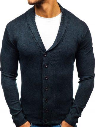 męski sweter szalowy