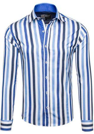 meska koszula w pionowe paski