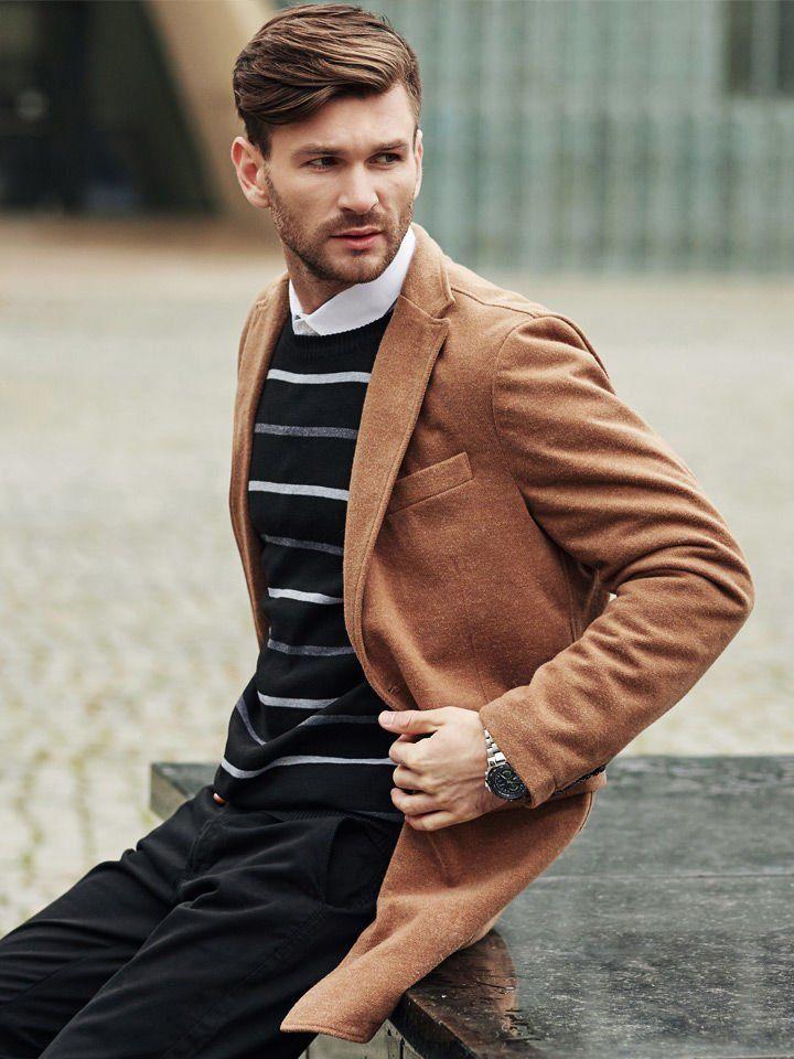 camelowe płaszcze męskie