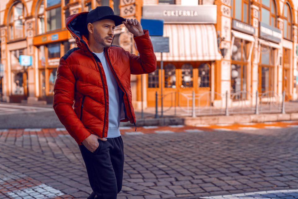 czerwona kurtka męska