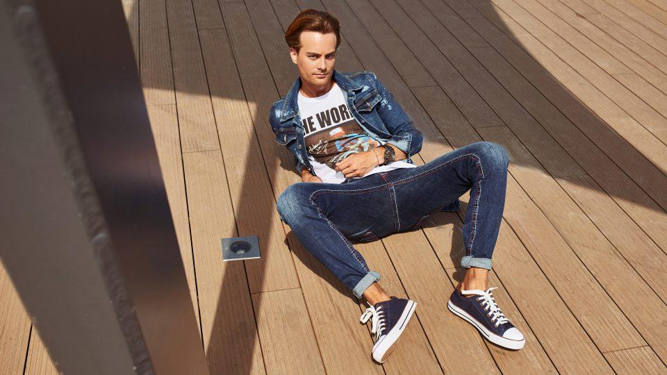 katana jeansowa męska